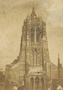 Das Ulmer Münster um 1854